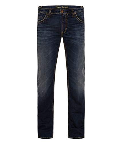 Camp David Jeans DARKUSED NICO Boot Cut Low Wast CDU-9999-1936 W32 33 34 36 38 (W32L34) Dark Denim Boot-cut Jeans