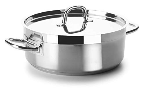Lacor Chef Luxe - Cacerola inoxidable