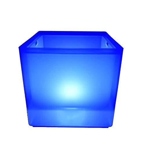 Be&xn Indoor Outdoor-Led-eisbehälter, Cube-weinkühler Led Mit 7rgb Farbwechsel-getränke Champagner Bier Eimer