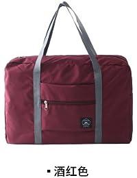 Red Wine : Woman Bags 2017 Bag Handbag Fashion Handbags Pvc Waterproof Nylon Foldable Women And Men Luggage Travel...