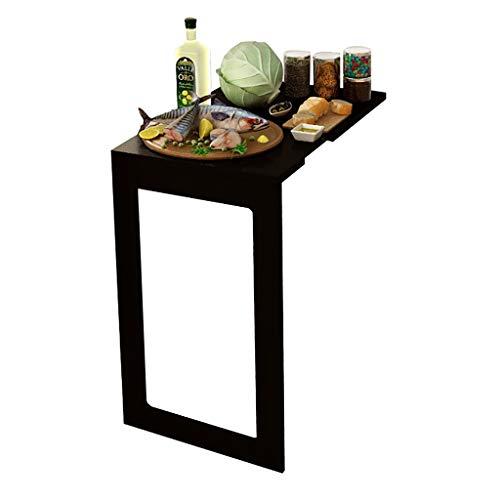 Lw wall table Wandtisch Wandklappbarer Drop-Leaf-Tisch, Schreibtisch mit Küchen-Esstisch, Schwarz/Weiß (Farbe : B, größe : 90 * 60 * 75cm) -