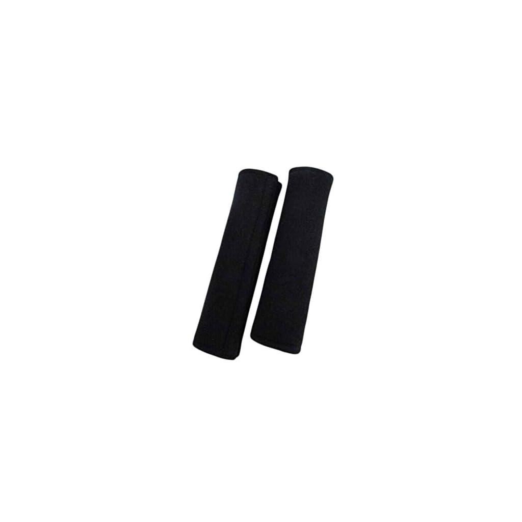 Kakiyi Cintura di sicurezza Strap 1Pair sicurezza nero federe da auto Cintura di sicurezza spalline Harness