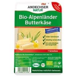 Andechser Natur Butterkäse, geschnitten, lactosefrei inkl. Kühlverpackung (150 g) - Bio