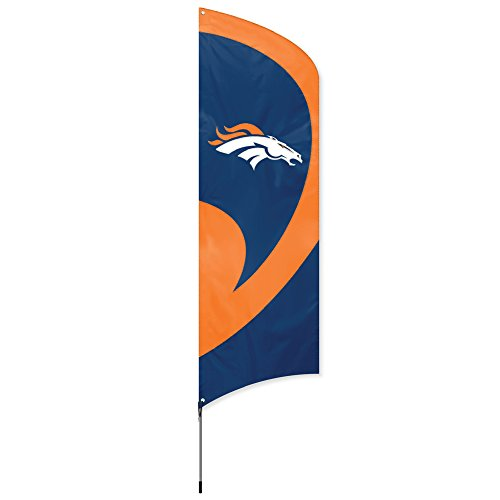 Party Animal geschlossen, offiziell Lizenzierte NFL Flagge Kit, Damen Kinder Herren Unisex, 733947150049, Denver Broncos, einheitsgröße