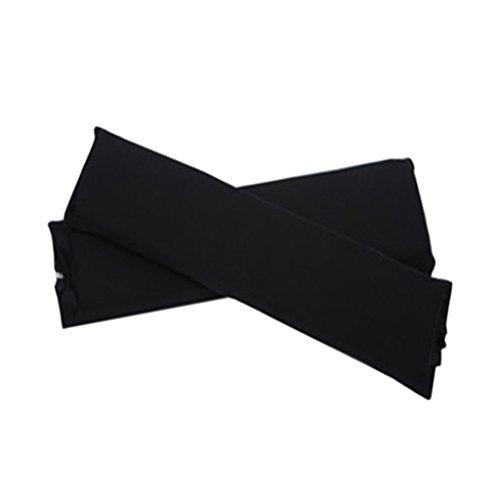 Sharplace 2 Stk. Elastische Armauflage, Armlehnen Polster, Ellenbogen Kissen für Drehstuhl Bürostuhl - Schwarz -