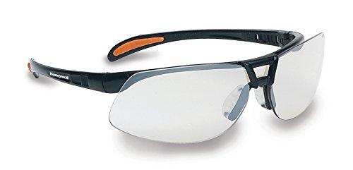 Honeywell 1015689 Protege Floating Lens Eyewear Metallic Black Frame with Silver Indoor/Outdoor Lens