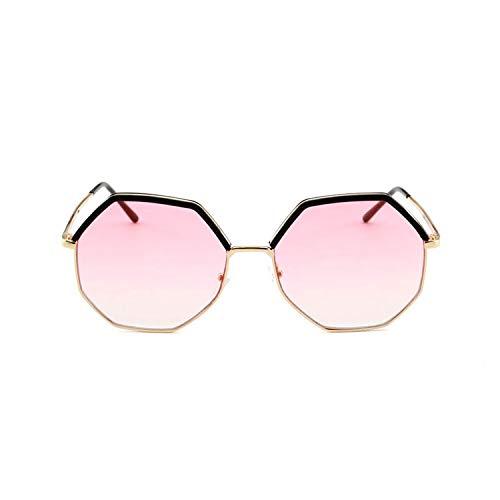 BENatural-UK Sonnenbrille Polygon-Metall, runder Rahmen, bunte Folie, Spiegel, UV400, Unisex, Übergröße, C8