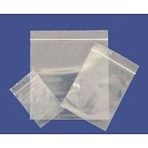 100 Plastic Resealable Grip Seal Bags 2