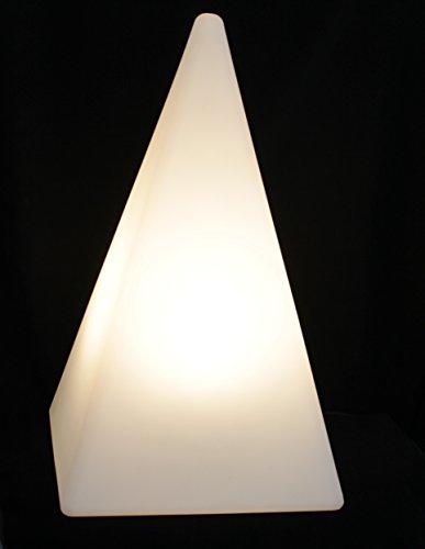 Gartenleuchte Figur Pyramide 64cm weiß inkl. 5m Kabel inkl. LED Leuchtmittel IP65 TG7231-60
