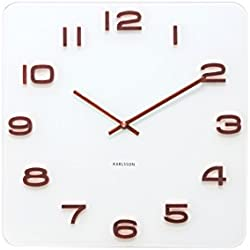 Karlsson Vintage - Reloj de pared, agujas de cobre, color blanco