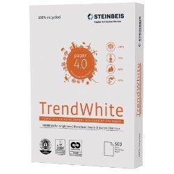 Trend White A4, 80g, weiß, 500 Blatt Das multifunktionale Recyclingpapier aus 100% Altpapier für besonders kosten- und umweltbewusste Anwender. Mit einer sehr hohen Lauffreudigkeit. Für Laserdrucker, Kopierer, Faxgeräte und Inkjetdrucker geeignet. - Bild 1