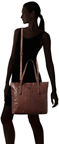 Spikes & Sparrow - Zip Bag, Appendi borsa tascabili e ganci Donna Marrone (Dark Brown)