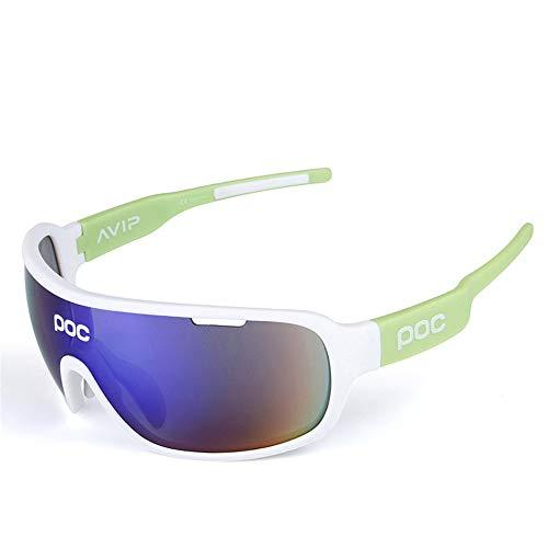 KLEDDP Brille POC Reiten polarisierten Outdoor-Reitspiegel Laufbrillen Sonnenbrille (Color : White)