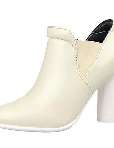 WSS 2016 Chaussures Femme-Bureau & Travail / Décontracté-Noir / Bleu / Blanc / Bordeaux-Gros Talon-Talons-Talons-Similicuir burgundy-us5.5 / eu36 / uk3.5 / cn35