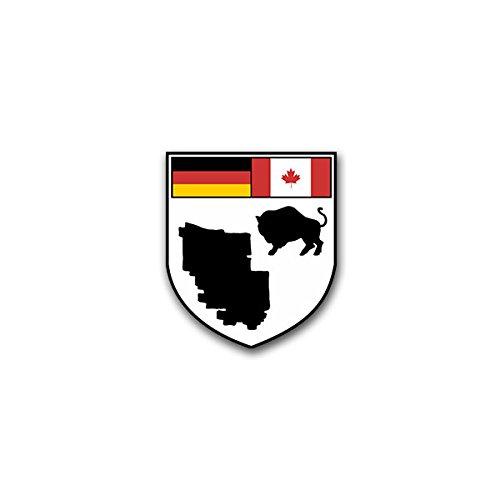 Aufkleber / Sticker - CFB Shilo Canadian Forces Base Shilo Militär Stützpunkt Training kanadische Streitkräfte Wappen Abzeichen Emblem passend für VW Golf Polo GTI BMW 3er Mercedes Audi Opel Ford (6x7cm)#A1571