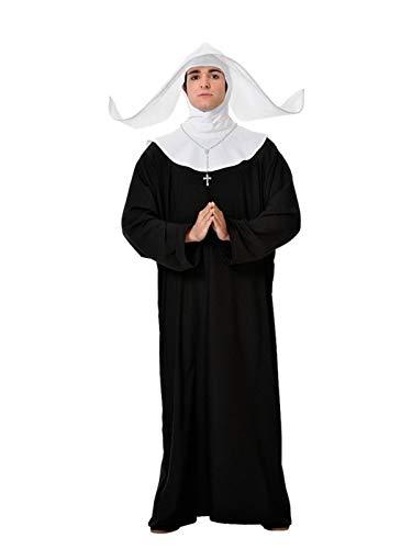 DISBACANAL Disfraz de Monja para Hombre - Único, XL