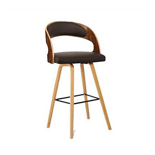 Stühle MEIDUO Haltbare Hocker Massivholz Barhocker Retro Low Back Kissen Viele Arten von Farben für den Innenbereich im Freien (Farbe : Brown (PU))