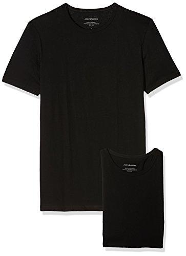 JACK & JONES Jacbasic Crew Neck tee SS 2 Pack Camiseta, Negro Black, XX-Large (Hombre