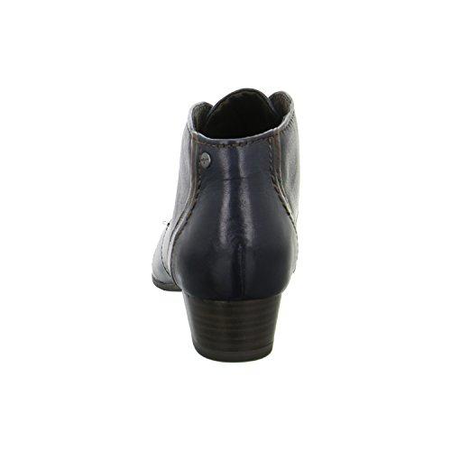 Tamaris TAMARIS 12511425Marineblau Kamm Leder Lace Up Boot Dunkelblau