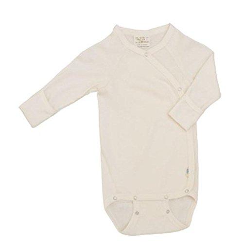 iobio-body manica lunga in lana e seta biologica chiusura a incrocio/ kimono tg 50/56