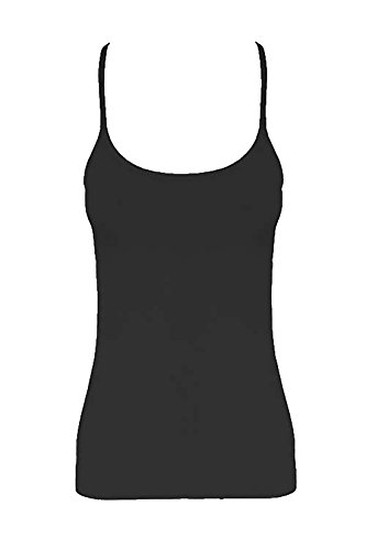 Girls Microfiber Crazy Chick Vest Top Childs Plain Stretch Fancy Party Wear Tops