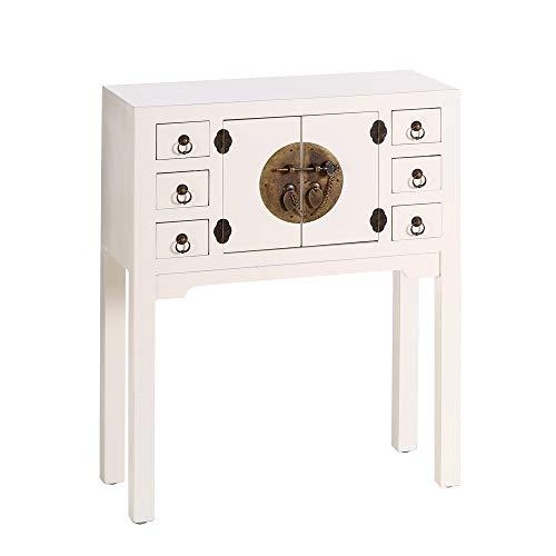 Consola de 6 cajones y 2 Puertas Oriental Blanca Oriental Feeling