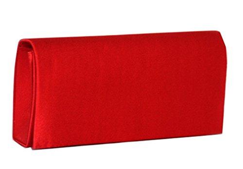 Clutch , Evening Bag Satin / Mod. 2088 by fashion-formel Rosso.