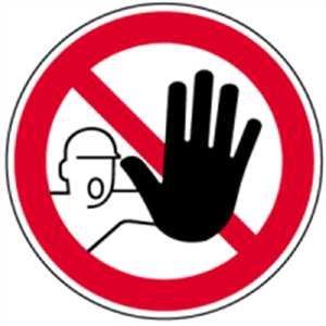 Schilder Zutritt für Unbefugte verboten 20cmØ Alu gemäß ASR A1.3/BGV A8/DIN 4844