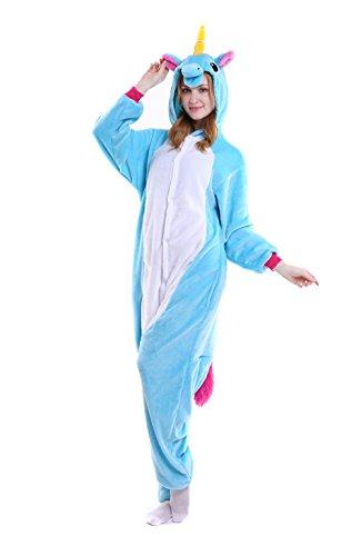 Unicornio Kigurumi Pijamas - Sakady Animal Cosplay Traje Unisex Niños Adultos Onesie Ropa de dormir.