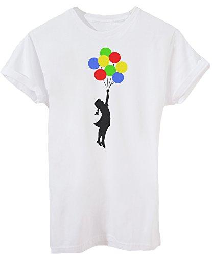 T-Shirt Balloons Banksy - Street & Social - iMage - Baby-XS -Weiß