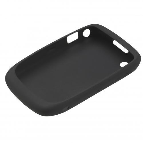 BlackBerry Silikonhülle (Skin) für BlackBerry Curve 9300 / 8520, schwarz - Bildschirm Blackberry 8520