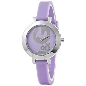 D&G DW0668 – Reloj de Señora Movimiento de Cuarzo con Correa de Caucho Lila