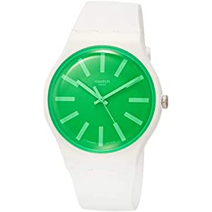 Swatch Mens Analogue Quartz Watch with Silicone Strap SUOW166