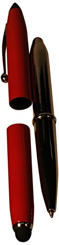 budd-leather-ballpoint-pen-with-led-light-soft-stylus-and-plastic-stylus-red