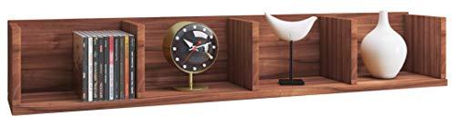 VCM Wandregal Regal Hängeregal Wandboard Hängeboard Bücherregal Sammlerregal Holz Kern-nussbaum 15 x 97 x 17 cm