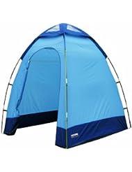 High Peak - Tienda de campaña para ducha, color azul oscuro/ azul claro
