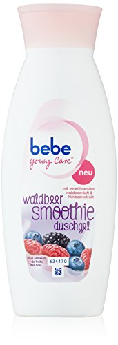 Bebe Young Care Smoothie Dusche Waldbeere, 250 ml, 2er Pack (2 x 0.25 l) (Dusche Smoothies)