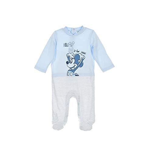 Disney - pagliaccetto per neonato, motivo: topolino, colore: bianco/azzurro weiß hellblau frühchen (44/50)