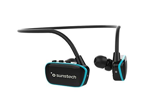 Oferta de ARGOS Sunstech Reproductor MP3 4GB Sumergible Impermeable IPX8 Diseñado para el Deporte y la natación Batería Recargable 200mAh. Almohadillas terrestres y acuáticas Incluidas. Negro - Azul.