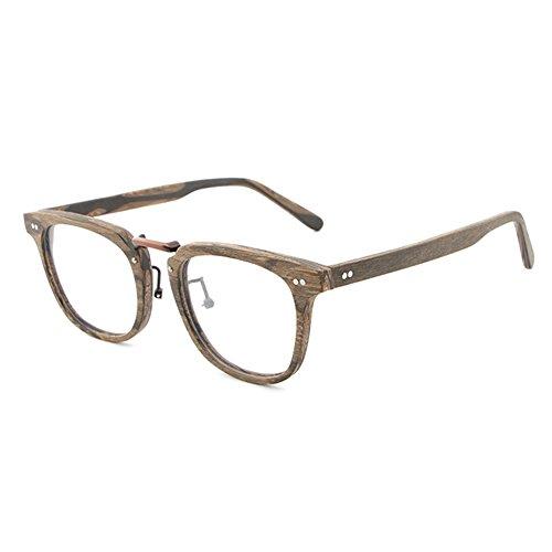 Juleya Holzbrillen für Männer Frauen - Mode Brillen Brillengestell 180207YJJ02