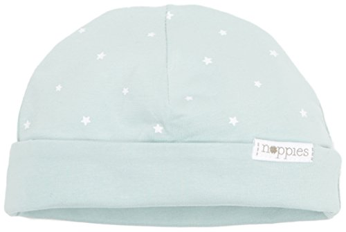 Noppies Unisex Baby Mütze U Hat REV Dani AOP 67338, Green (Grey Mint C175), One (Size:0M-3M)