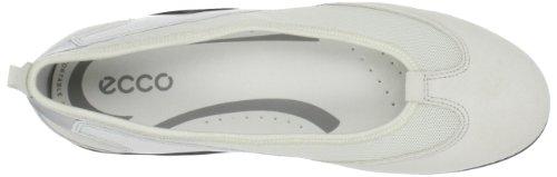 Ecco Vibration II Femmes Cuir Chaussure de Course Shadow White-Shadow White
