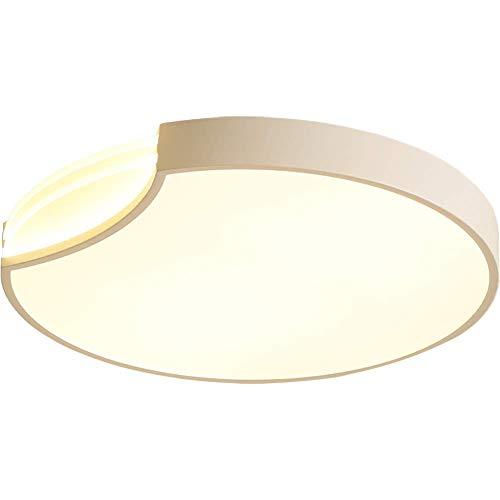 Fda3h plafoniera moderna a led rotonda design originale minimalista in metallo e acrilico illuminazione interna per cucina da ufficio soggiorno balcone corridoio [classe energetica a ++] blanc Ø40 * h