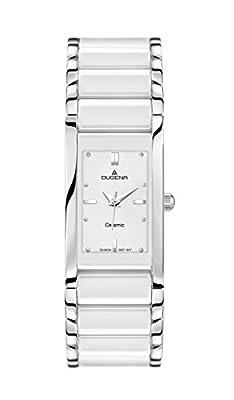 Dugena Dugena Basic 4460506 - Reloj analógico de cuarzo para mujer, correa de cerámica color blanco de Dugena
