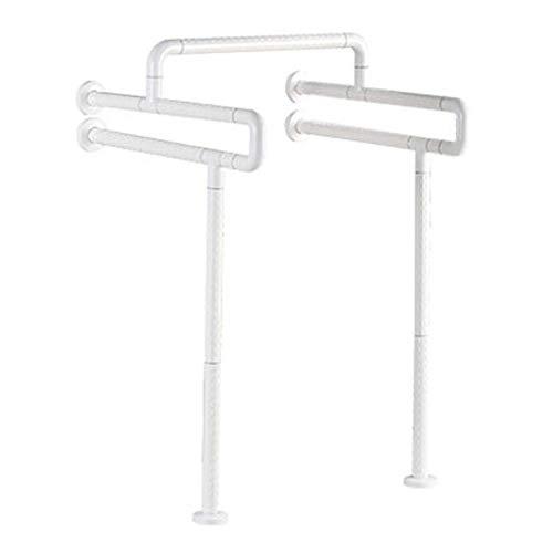 MCL Stainless Steel Fluorescent Kragen Behinderte Ältere Waschbecken Waschbecken Griff Bad Barriere Podest Becken Handlauf (Farbe : Weiß) (Bad Waschbecken Podest)