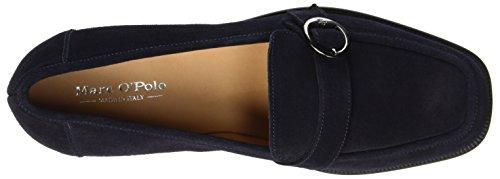 Marc OPolo Mid Heel Loafer 70714142201303, Mocassins Femme Bleu Marine