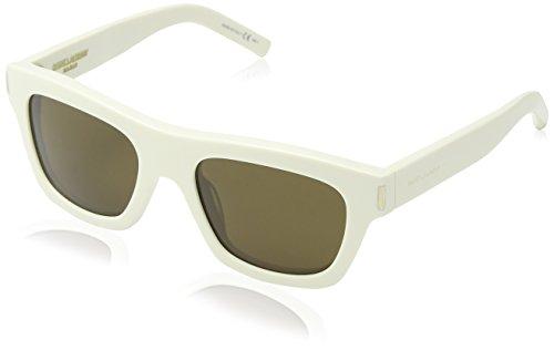 Saint Laurent Unisex-Erwachsene Bold 4 Sonnenbrille, Braun (White), One size