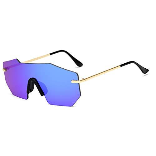 SYQA Sonnenbrille Marke unregelmäßige randlose Frauen Männer Sonnenbrillen heißen Sommer Farbverlauf Sonnenbrille Top-Qualität Brillen Uv400,C1