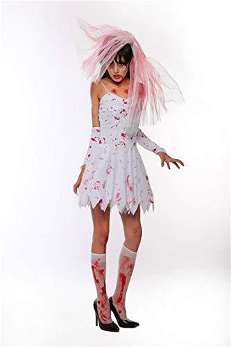 Simmia Halloween Kostüm,Halloween-Vampir Anzug dunkel Geist Braut Hexe Prinzessin Kleid Cosplay Zombie, 1608, L