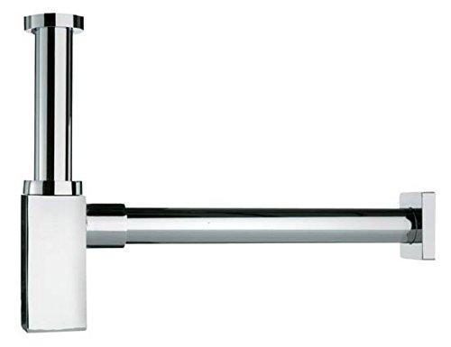 profizeug24 Design Siphon Geruchverschluss quadratische Form Messing verchromt